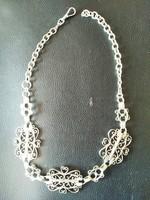 Régi,  ezüst nyakék ( nyaklánc, lánc)