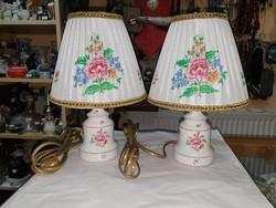 2db Ó-herendi porcelán lámpa