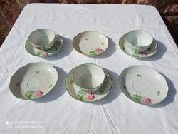 Herendi Tertia mély tányér, lapos tányér, leveses tál, kínáló, szószós, sültes, csészék, 40 db-os