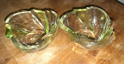 Zöld színű üveg mogyorós tàlkàk