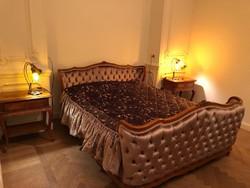 Franciaágy 160x210cm, matraccal, ágytakaróval