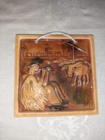Furulyázó juhász, keramia kép
