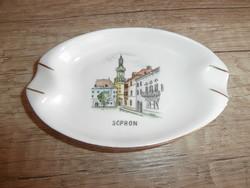 Aquincumi város képes hamutál Sopron