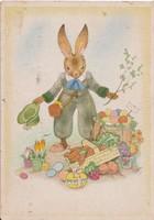 Német húsvéti képeslap Charlotte Baron RAA rajzával