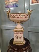 Madaras porcelán kínálo-asztalközép-center-gyümölcstál