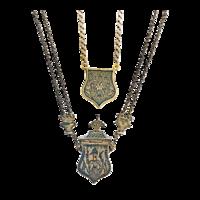 Amulett tartó medál és előlapjából alakított nyakék