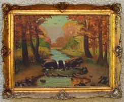 Antik festmények gyűjteménye: tájkép, csendélet, enteriőr