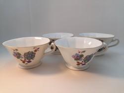 Schlaggenwald czechoslovskia porcelán csészék 4 db