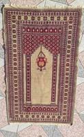 Régi kézicsomozàsú Szőnyeg,Ima szőnyeg különleges darab