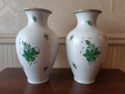 Herendi Apponyi  mintás nagy váza párban 2 db ,kosár fonott 32 cm