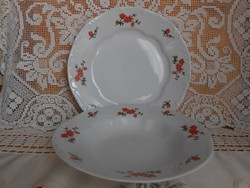 Zsolnay barack mintás tányér szett (lapos és mély)