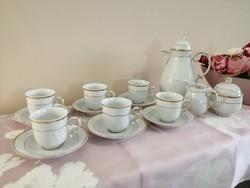 Hollóházi arabona mintás kávés mokkás készlet