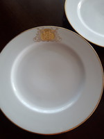 Antique richly gilded hüttl tivadar monogram plates 6 pcs