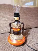 Sorszámozott kerámia lámpatest, gyönyörű színben és stílusban. Hibátlanul működik!