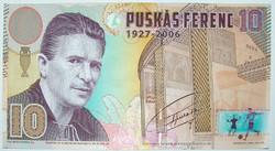Puskás Ferenc teszt bankjegy / sample note - extrém ritka! Egyedi sorszámozott.