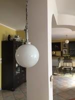 Szép krómozott Bauhaus lámpa, függeszték, csillár ArtDeco?