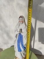 Hatalmas 100éves porcelán Imádkozó Mária , színes gyönyörű!N.D.De Lourdes,Lourdes Madonna, Francia