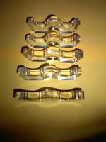 5 db régi  késbak csiszolt üvegből