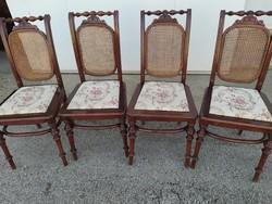 Ónémet nádazott, háttámlás székek a XX. század első fele