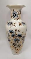Zsolnay búzavirágos váza, ÚJ állapot! 27cm