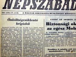 1965 június 23  /  NÉPSZABADSÁG  /  Régi ÚJSÁGOK KÉPREGÉNYEK MAGAZINOK Ssz.:  14874