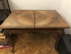 Barokk kihúzható asztal