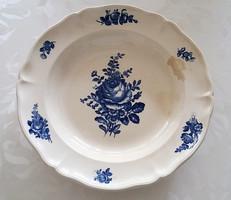 Villeroy & Boch régi fajansz kék rózsás virágos vintage tányér 23.5 cm