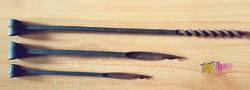 Antik kovácsoltvas nagy méretű cigányfúró készlet. Kézműves szerszámok.