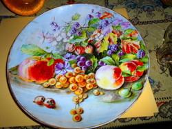 Nagyméretű -festői szigno kézzel festett falitál-látványos szép darab 30 cm