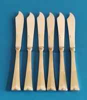 Ezüst desszert kés 6 darab angol fazon