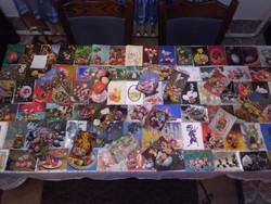 Száz darab retro húsvéti képeslap - együtt - kreatív újrahasznosításra - 3.