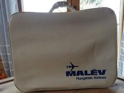 Malév műbőr bőrönd koffer táska retro vintage