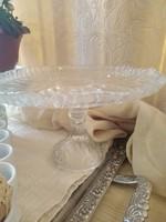Talpas torta tál,sütis asztalközép