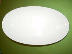 SOLAFRANCE GÉRARD FAVARON áramvonalas porcelán ovális kínáló tál 24x14x3 cm.