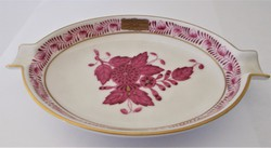 Herend ashtray with purple apponyi pattern