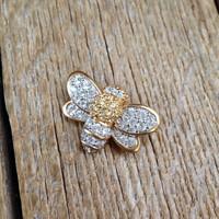 Régi Swarovski aranyozott méhecske bross