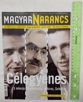 Magyar Narancs újság/magazin 2010/14 Bokros Mesterházy Schiffer Aghion Bodó Viktor Scherfig GNR