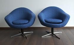 Felújított retro, mid century fotel 2db