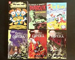 Régi retró Diabolik Disney Fix Foxi Éjféli Opera képregény sorozat 6 db