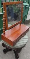 Biedermeier, fiókos tükör,pipere vagy fésülködő asztali bútor