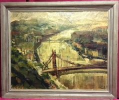 ZSÓTÉR ÁKOS (1895 - 1983): A Duna(1932),olaj-vászon