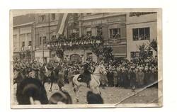 1938 Kassa visszatér Képeslap Ózd állomásra Felvidék felszabadulásának emlékére 1938 nov 23