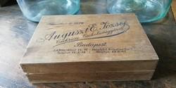 Fa bonbonos, cukorkás doboz a 2. világháború előtti, dekoráció