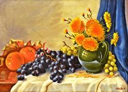 FÜLÖP Jenő (1884-1949) eredeti festmény, olaj fa, kerettel: 36 x 46 cm
