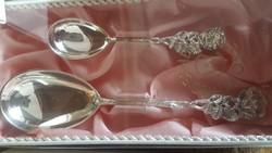 Hildesheimer 18 db os ròzsa  eredeti jelzett 100 as ezüstözött  ròzsàs készlet eredeti dobozàban