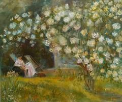 Rózsák.Virágok.Nő.Természet.Napsütés