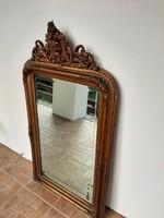 Felső díszes biedermeier tükör 127 x 70 cm