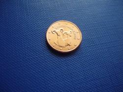 CIPRUS 1 EURO CENT 2016! KECSKE! ! UNC! RITKA!