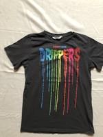 H&M Downtown Drippers szürke rövid ujjú póló
