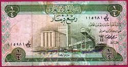 # Külföldi pénzek:  Irak: 1973 - 1/4 dinár